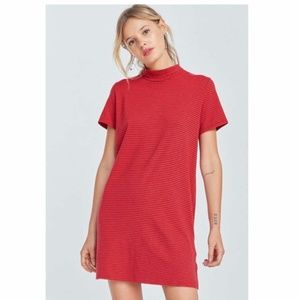 Urban Outfitters Mock Neck T-Shirt Dress Red